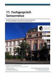 11. Fachgespräch Sensornetze - Secure Mobile Networking Lab ...