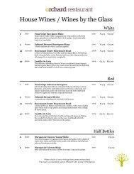 Sample Wine Menu - Castlecourt Hotel