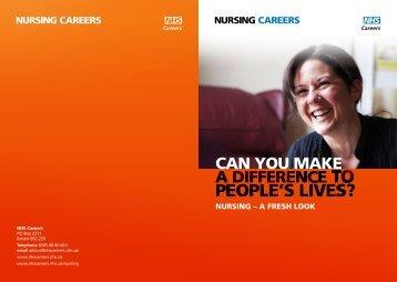 NURSING CAREERS NURSING CAREERS - NHS Nursing Careers ...