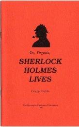 Yes, Virginia, Sherlock Holmes Lives - University of Minnesota ...
