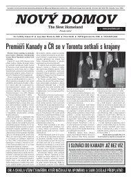 Premiéři Kanady a ČR se v Torontu setkali s ... - Nového Domova