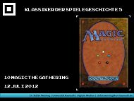 Magic: The Gathering - Medienwissenschaft Universität Bayreuth