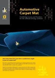 Automotive Carpet Mat C - DK-Schweizer