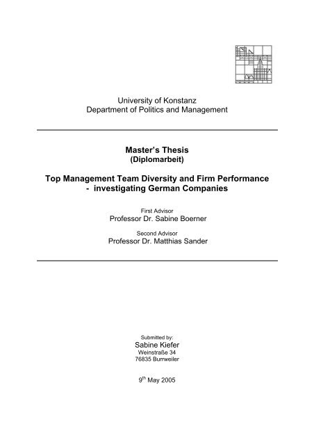 Top Management Team Diversity and Firm Performance - KOPS