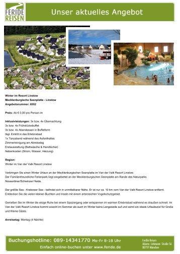 Winter im Resort Linstow - Eventreisen - Trierischer Volksfreund