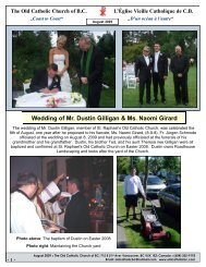 Wedding, Baptisms in August and a new Priest, Fr. Martin Lotho
