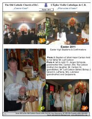 Easter 2011 - The Old Catholic Church of BC