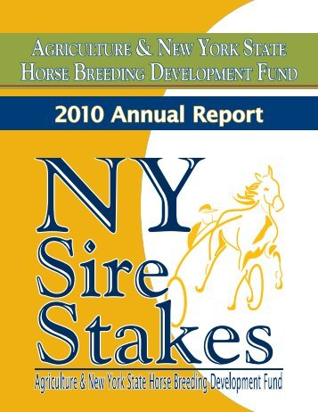 2010 Annual Report - New York Sire Stakes