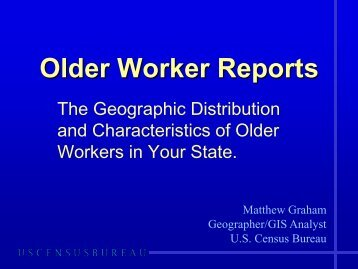 Older Worker Reports - U.S. Census Bureau