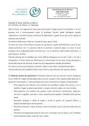 Disturbi d'Ansia nell'età evolutiva - Associazione per la Ricerca sulla ...