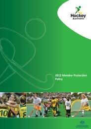Member Protection Policy - Hockey Australia
