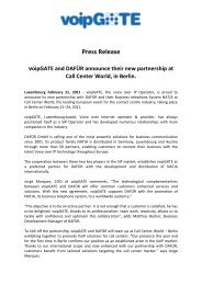 Press Release - Call Center World, Management Circle AG