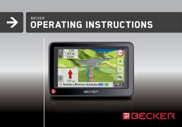 Operating instructions - mobilenavigation.mybecker.com