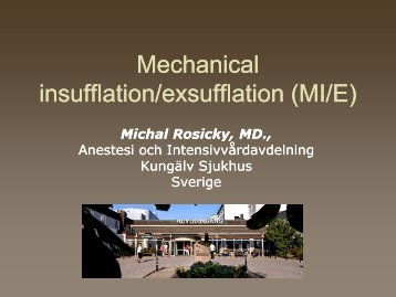 Mechanical insufflation/exsufflation (MI/E)