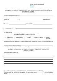 Meldung für die Organisation von Freizeit und kulturellen Tätigkeiten