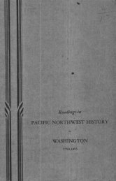 pacific northwest history washington -  ScholarsArchive at Oregon ...