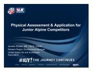 Physical Assessment - US Ski Team