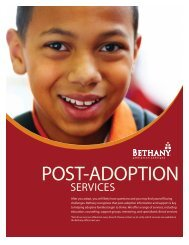 post-adoption support - Bethany Christian Services