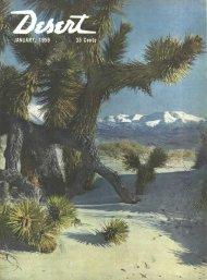 Publisher's Notes - Desert Magazine of the Southwest