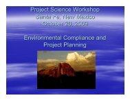 Environmental Compliance and Project Planning - Project Science