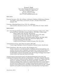 Curriculum Vitae (pdf) - College of Law