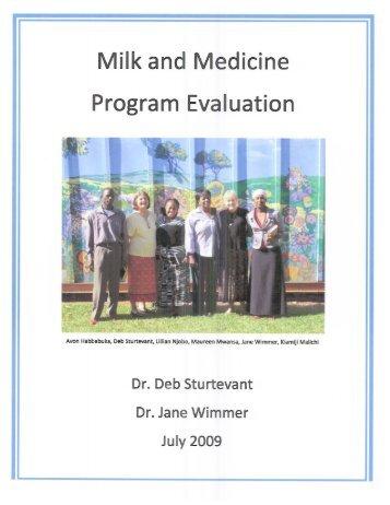 Page 1 ||_ I\/|i|k and Medicine Program Evaluation Dr. Deb rïeve m ...