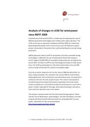 Analysis of changes in LCOE for wind power ... - Ea Energianalyse