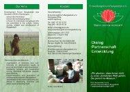 Vereinsvorstellung als Faltblatt - Entwicklungsforum Bangladesh eV