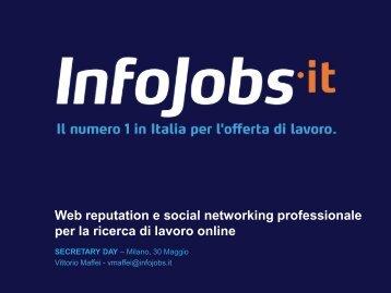 Web reputation e social networking professionale per ... - Secretary.it