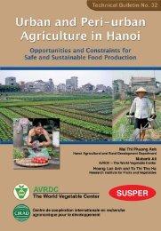 Urban and Peri-urban Agriculture in Hanoi