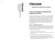 how to obtain a residential building permit - City of Portage
