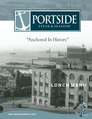 Lunch Menu - Prince Arthur Hotel
