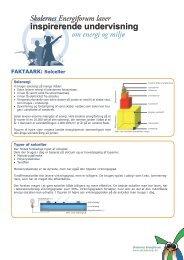 Faktaark om solceller - Energitjenesten