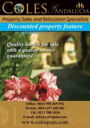 Discounted property feature - Coles of Andalucia