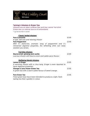 Download our Afternoon Tea Menu - Principal Hayley