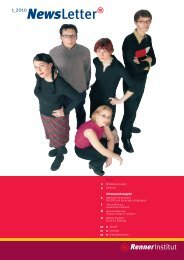 Download Newsletter 1-2010 (pdf, 1.6 MB) - Renner Institut