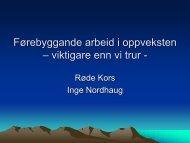 Foredrag Inge Nordhaug - Røde Kors