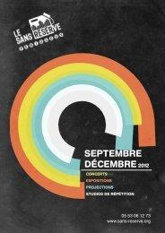 SEPTEMBRE DÉCEMBRE2012 - Le Sans Réserve