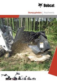 Stump grinders | Attachments - Bobcat.eu