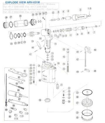 Aerofast Lobster HN-010 Hand Operated Rivet Nutter Tool ...