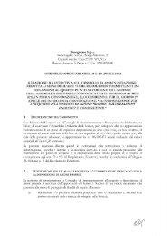 Relazione Illustrativa Assemblea Ordinaria Relativo al Quarto Punto ...