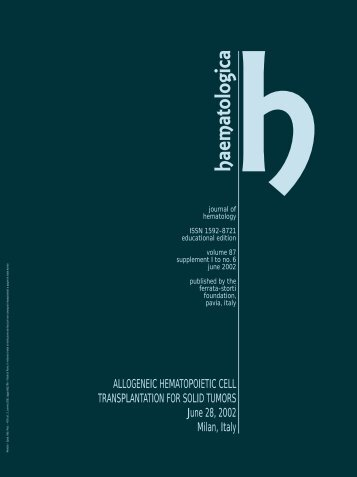 Haematologica 2002;87: supplement 1 to no. 6 - Supplements ...