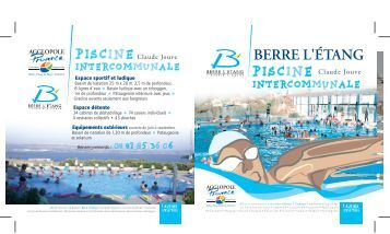 Flyer de la piscine onex for Plaquette piscine