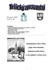 Tršický zpravodaj Prosinec 2007 - Tršice