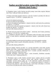 Soubor pravidel prodeje nemovitého majetku Městské části Praha 3