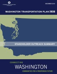 Comment and Outreach - Washington State Transportation ...