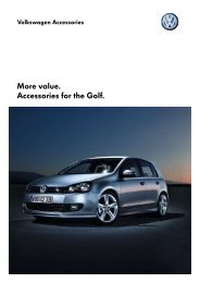More value. Accessories for the Golf. - Volkswagen