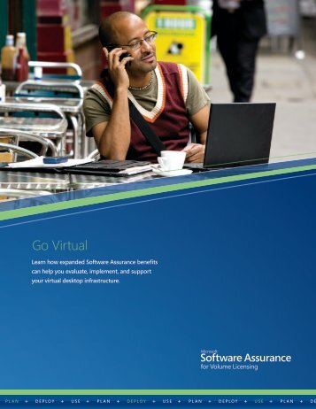 Software Assurance Desktop Virtualization brochure - Microsoft