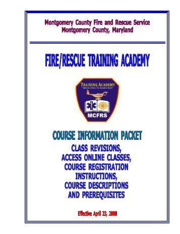 Training Academy Course Catalog - Montgomery County, Maryland