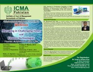 Webinar - Institute of Cost and Management Accountants of Pakistan